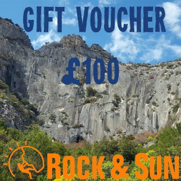 gift-voucher-Rock and Sun Climbing Courses Climbing Holidays 100