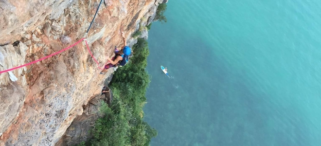 Multi-pitch climbing Thailand