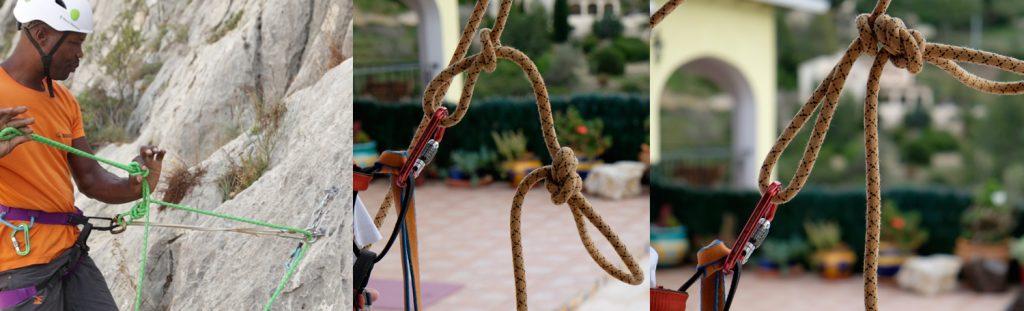 Threading anchors - Idiot knot