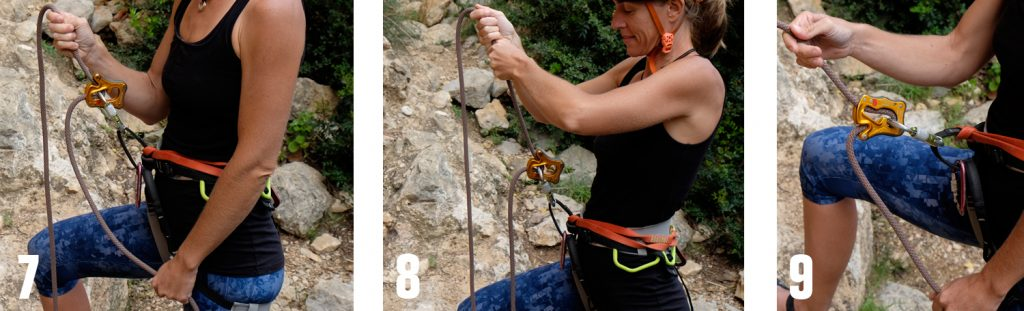 Lock and release belay device